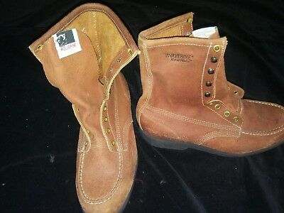 VINTAGE Mens Wolverine Boar Hide Boots Made in USA. Size 7 1/2