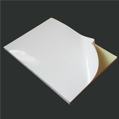 1-100 A4 White MATT / GLOSS Self Adhesive Sticker Paper Sheet Address Label
