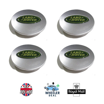 Land Rover Alloy Wheel Centre Caps 63mm x4 Fits LR2, LR3,LR4 Discovery