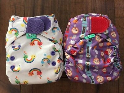 Tots bots V4 Cloth Diaper All In One AIO Rainbow And Hickory Dickory