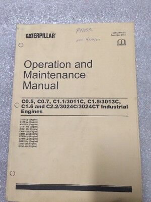 CAT CATERPILLAR 3011 3013C 3024C Industrial Engine Shop Service