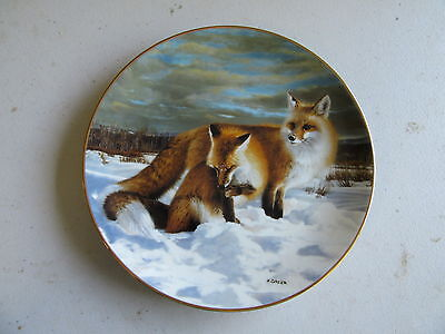 "Knowles Shadows and Light: Winter's Wildlife ""Winter's Children"" Plate, COA"
