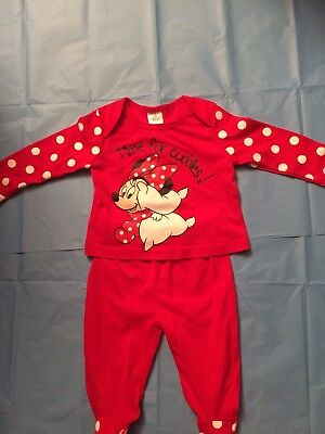 Baby Girl Minnie Mouse Pyjamas 3-6 Months