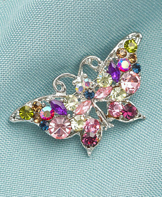 The Lakeside Collection Crystal Pins - Butterfly