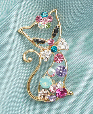 The Lakeside Collection Crystal Pins - Cat