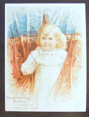 Excellent Vintage Mellin's Food For Infants And Invalids Advertising Card