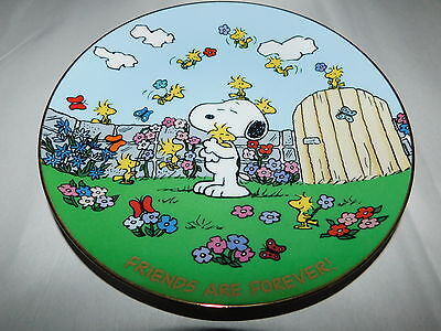 Peanuts Snoopy Friends Are Forever Danbury Mint Plate w Certificate