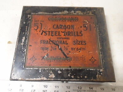 MACHINIST LATHE TOOL MILL Machinist Vintage Cleveland Drill Co Advertising Case