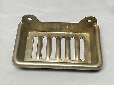 Antique Nickel Brass Wall Mount Soap Dish Old Vtg Bath Kitchen Fixture 578-17E