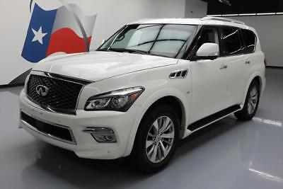 2016 Infiniti QX80  2016 INFINITI QX80 AWD THEATER SUNROOF NAV DVD 20'S 36K #121812 Texas Direct