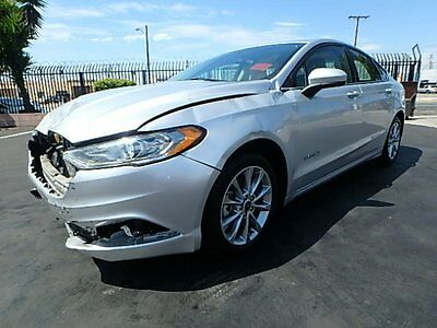 2017 Ford Fusion Hybrid SE 2017 Ford Fusion Hybrid SE Damaged Salvage Only 3K Mi Perfect Commuter Must See!