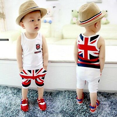 US 2pcs Toddler Baby Boys Girls Outfits T-shirt Tops+Pants Clothes Set Outfit 85