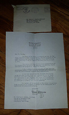 Origina Typed Letter Signed by New Jersey Governor Harold Hoffman 1937