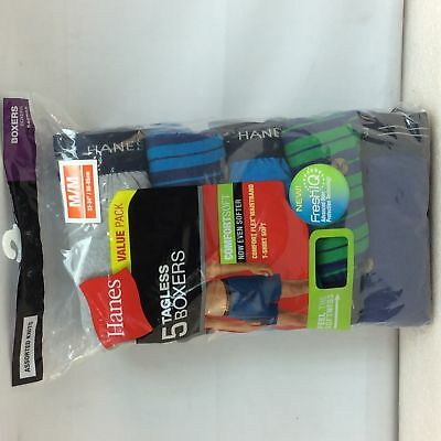 5 pack Mens Hanes 548BX5 Tagless, comfort Flex waistband, Boxers