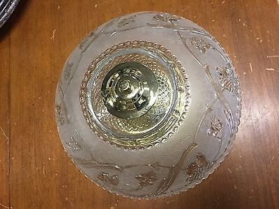 Hanging  Glass Ceiling Fixture Light Chandelier Vintage