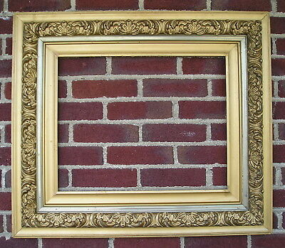 Antique Aesthetic Eastlake Victorian Bronze~Gold~Silver Picture Frame 16 x 20