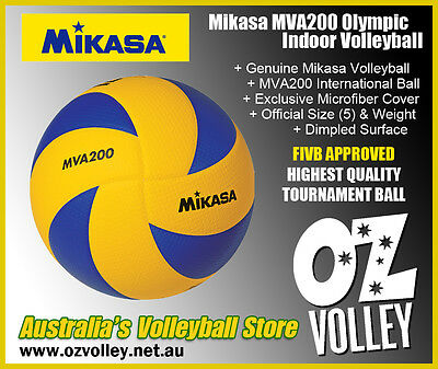 Genuine Mikasa MVA200 Indoor Olympic Volleyball - FIVB Approved - OzVolley