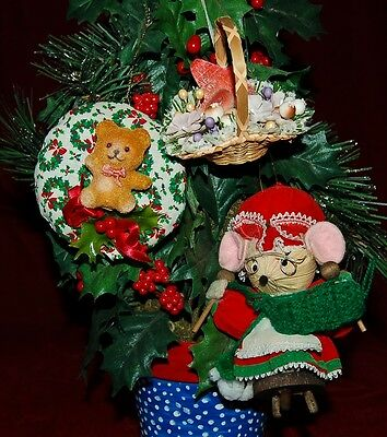 1980's  Vintage Ornaments Lot Of 3 Beautiful Pieces!