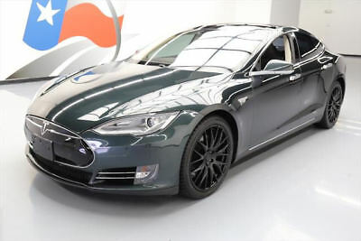 2013 Tesla Model S  2013 TESLA MODEL S TECH PANO ROOF NAV REAR CAM 20'S 54K #P26796 Texas Direct