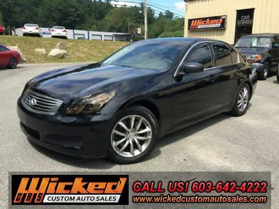 2007 Infiniti G Sport RWD Manual G35S 6-SPEED LOTS OF FUN BLACK ON BLACK CLEAN CAR-FAX G37 BODY