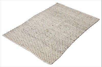Jute Cotton Flat Weave Handwoven Rug 120x180cm - Limited Stock - Price Dropped