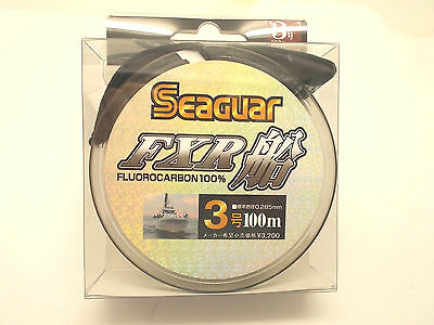 SEAGUAR FXR FLUOROCARBON LEADER LINE 100m - #3.0 12lb 0.285mm  From Japan