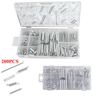 200 Pcs 20 Sizes Boxed Car Spring Hardware Set Extension + Compression Springs