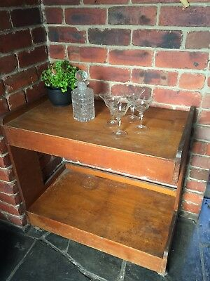 Deco Antique Vintage Drinks Trolley Bar Timber