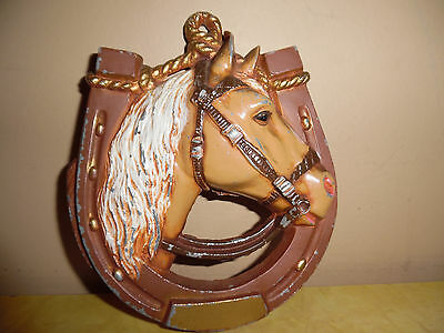 Vintage Horse Wall Hanging Cast Metal
