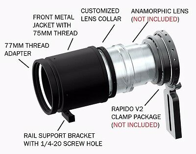 Rapido Front Metal Jacket Package for Rapido Anamorphic Clamp V2