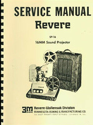 Revere SP-16 16mm Sound Projector Service Repair Manual