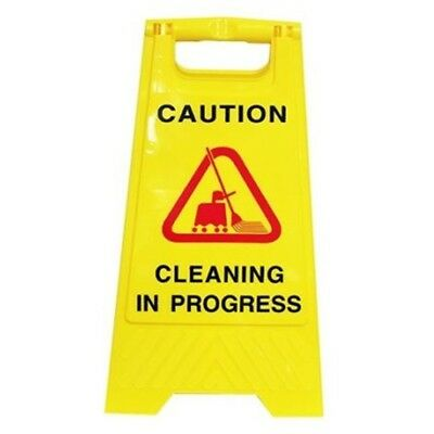 1 x A-Frame Rigid Plastic Standing Safety Signage  - 'CLEANING IN PROGRESS'