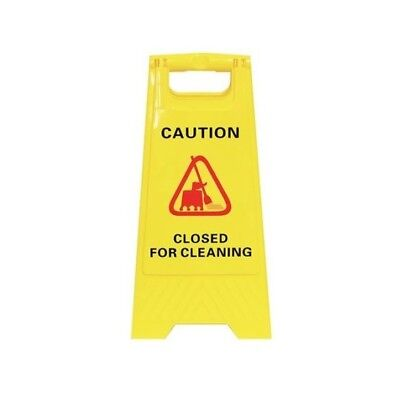 1 x A-Frame Rigid Plastic Standing Safety Signage  - 'CLOSED FOR CLEANING'
