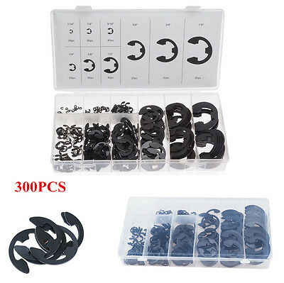 300Pcs 9Sizes E-Circlips Ring For Shafts Assortment Snap Retaining Washer Buckle