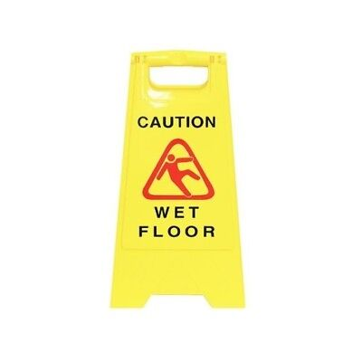 1 x A-Frame Rigid Plastic Standing Safety Signage  - 'WET FLOOR'