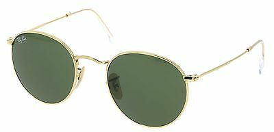 Ray-Ban Round Metal Gold  Unisex Sunglasses RB3447-001 - 50mm