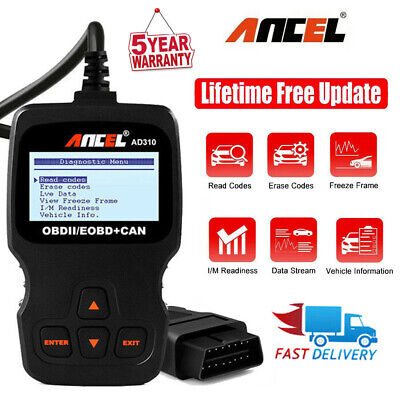 Car OBD2 EOBD Live Data Fault Code Reader Engine Scanners Diagnostic Scan Tool