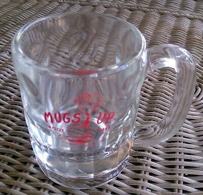 Vintage Mugs-Up Root Beer Mug Stein small 10-ounce size Heavy Glass with Handle