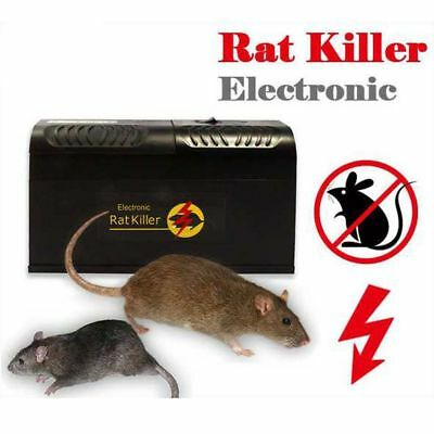Electronic Mice Rat Killer Rodent Repeller Electric Trap Zapper Pest ControlP4