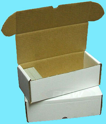 50 BCW 500 COUNT CARDBOARD STORAGE BOXES Trading Sport Card Holder Case Hockey