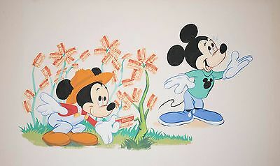 Original Disney Artwork Illustration Used For Commercial Purposes, Mickey Mouse!