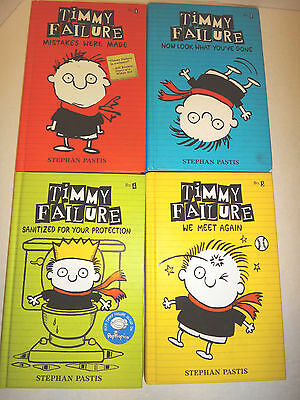 Lot of 4 Timmy Failure Series Books 1-4 by Stephen Pastis - HC/LN