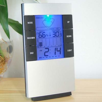 DigiAl Thermometer Humidity Meter Room Temperature Indoor Hygrometer Clock AA 1T