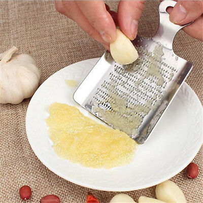 1Pcs Garlic Ginger Kitchen Wasabi Stainless Steel Device Grater Crushed Tools