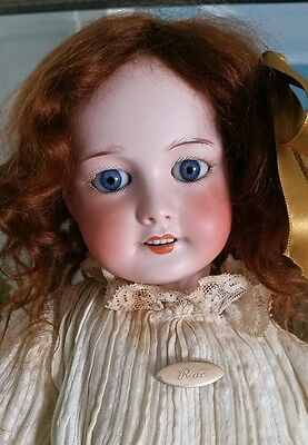 """PRETTY 21"""" SFBJ 301 ANTIQUE FRENCH DOLL - lovely antique clothing"""