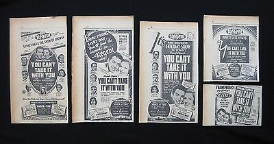 YOU CAN'T TAKE IT WITH YOU 1939 Orig movie advertising James Stewart Jean Arthur
