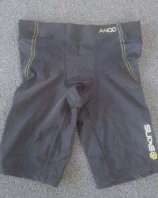 Men's A400 Skins Compression 1/2 tights Black size XS RRP $100