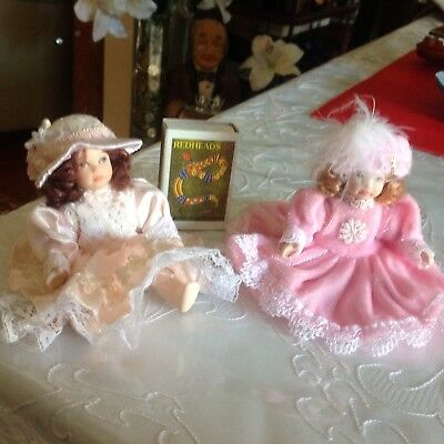 2cute Little China Dolls  4inches High 10cm