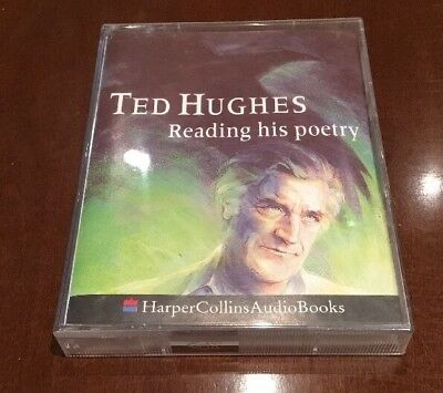 Ted Hughes Reading His Poetry - Double Audiobook Cassette - Harper Collins
