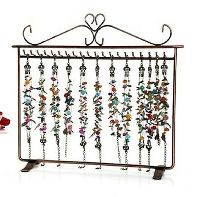 1X Copper Jewelry Necklace Displays Stand 20 Hooks